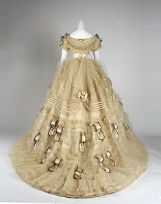 1860 ballgown | Emile Pingat. Silk Ball Gown. 1860. French.