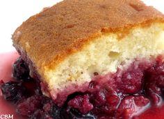 Dans la cuisine de Blanc-manger: Gâteau Jeannette renversé, petits fruits et rhubarbe