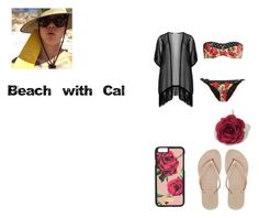 Beach with Calum by analis-briseno on Polyvore featuring polyvore fashion style Maxima Dolce&Gabbana Havaianas clothing