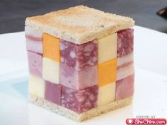 meat & cheese Rubik's cube