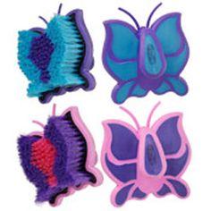 Tough-1 Butterfly Palm Grip Medium Bristle Brush   ChickSaddlery.com