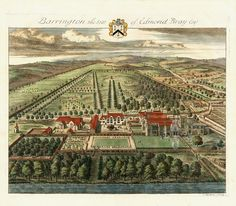 Antique Prints of Architecture by Johannes Kip from The Ancient & Present State of Gloucestershire 1768