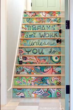 hand-painted-stairs-colorful-pinterest-artist-studio