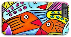 """Whimsical Colorful Fish"" From the art studio of Scott D Van Osdol available at fineartsamerica.com"