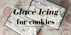 Cookies in image by drakegore                        Glacé icing is an alternative to...