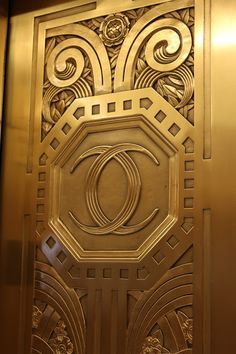 Art Deco ~ Chicago | Interior detail, Carbide and Carbon Building, N. Michigan Avenue. Designed by Daniel and Hubert Burnham, 1929.