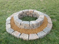 My fire pit. So easy!