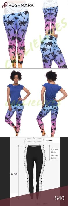 Ship2/7/18 Pastel Palm Tree graphic Ombré leggings WILL NOT SHIP UNTIL 2/7/18 Pink blue ombré 3D digital printed soft leggings 3D Color Stylish One Size Leggings Tights   Pants Fabric 88% Polyester 12% Spandex NOT Black Milk  I also sell Crop tops, jogger sets, catsuits, Mommy & Me, soft, fleece, brushed Velour leggings, Wow Couture, Angelica Val, Giuseppe, Balenciaga, Louis Vuitton, Prada, Moschino, BCBG, Analili, yoga workout, Cocktail, Clubwear, ripped leather jeans, Bodycon Bandage Maxi…