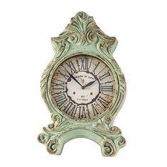c5d063be83e Relógio de Mesa Clássico Paris Verde em Resina Oldway - 51x32 cm