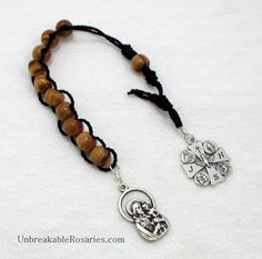 St Joseph Olive Wood Pocket Rosary Beads by unbreakablerosaries