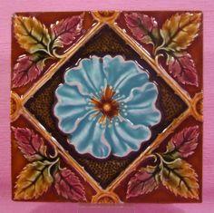 Majolica - 1890 to 1910 - Ceramic Tile
