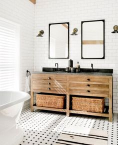 A modern bathroom wi