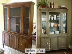 We gave makeovers to a bunch of rough Goodwill and Craigslist furniture finds for our new home.