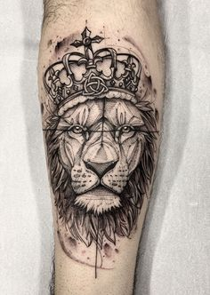 creative lion tattoo © tattoo artist Lucas Martinelli 💕👑🐵💕👑🐵💕👑🐵💕👑🐵💕