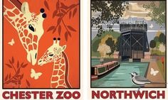 Giraffes and anderton boat lift