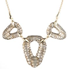 Croc Textured Multi Piece Bib Necklace | Alexis Bittar