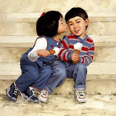 """""""Pucker Up"""" -- by Donald Zolan (American, 1937--2009)"""