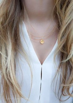Kaiemi necklace triple strand necklace gold von kealohajewelry