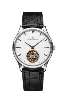 JLC creates stunning ultra thin watches and the Master Ultra Thin Tourbillon is one of their latest. #JaegerLeCoultre