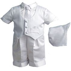 4pc Infant Christening Set (0-12m)