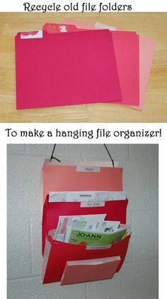 Living the Craft Life: DIY hanging folder organizer - Tutorial