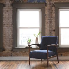 Gracie Retro Indigo Arm Chair | Overstock.com Shopping - The Best Deals on Living Room Chairs