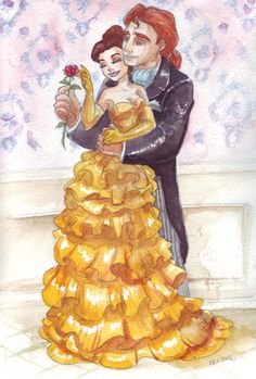 Belle and Adam Designer fashion Ib by ~TaijaVigilia on deviantART Disney Pixar, Disney Fan Art, Disney Animation, Disney And Dreamworks, Disney Magic, Walt Disney, Disney Belle, Disney Prom, Cute Disney
