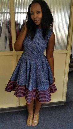 Shweshwe Dresses South Africa Styles For Woman - Pretty 4 African Dresses For Women, African Print Dresses, African Print Fashion, Africa Fashion, African Fashion Dresses, African Attire, African Wear, African Women, African Prints