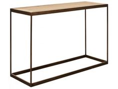 Brunel Console Table Made using cast matt black steel and wild weathered oak £450.00