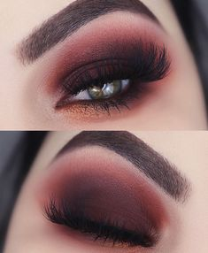 My make up from Urban Decay party . - My make up from Urban Decay party Red and black party makeup - Elf Makeup, Cute Makeup, Beauty Makeup, Hair Makeup, Makeup Set, Beauty Tips, Simple Makeup, Makeup For Party, Red Eyeshadow Makeup