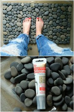 50 Ideen für DIY Gartendeko und kreative Gartengestaltung – Gartendekoration Fall is my favorite time for outdoor DIY projects. It's not too hot and there's just something about landscaping against those beautiful fall colors. Stone Crafts, Rock Crafts, Diy Home Crafts, Diy Home Decor, Best Crafts, Outdoor Projects, Garden Projects, Outdoor Crafts, Cool Diy Projects