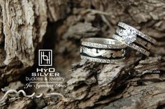Absolutely stunning! Matching rings, R006AS & R006BS, combine to make a great wedding set.