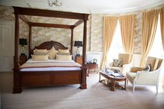 Ballyseede Castle Hotel, an authentic Irish Castle Hotel, steeped in history and splendour, located in Tralee Co. Castle Bedroom, Private Garden, Ireland, The Originals, Luxury, Bedrooms, Furniture, Home Decor, Quartos