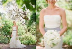 Dress and scenery - Marie Selby Gardens Florida Wedding