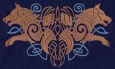 Nordic Majesty Wolves design (UT4337) from UrbanThreads.com