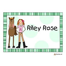 Personalized Horse Placemats; great party favors or for the birthday girl or boy