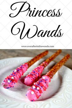 Pink Princess Wands for a little girl or baby girl birthday party. Perfect for Disney themes, Sophia the First and any Princess party you are having.