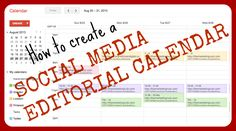 Free Social Media Strategy Course Part 3: Social Media Editorial Calendar In part 3 of our free Social Media Strategy Course I will show you how to set up and use one of the most useful Social Media tools for Marketers that will help you stay on track with your Social Media strategy: The Social Media Editorial Calendar