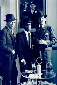 Frank Sinatra, Sammy Davis Jr & Dean Martin, 1964 - from Robin and His Seven Hoods film. Photo by Cecil Beaton