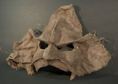 Leaf man half mask in the style of Commedia del'Arte
