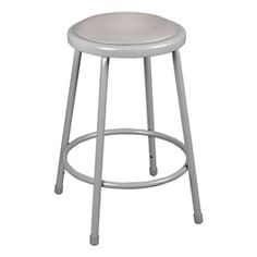"""Learniture Heavy Duty Steel Stool with Hardboard Seat and Adjustable Height, 18 Height, 16 at Base"""" Width, Gray Home Bar Furniture, School Furniture, Classroom Furniture, Furniture Ideas, Metal Stool, Metal Chairs, Classroom Stools, Classroom Setup, Adjustable Stool"""
