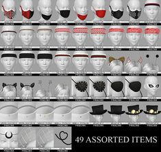 "pralinesims: ""All accessory pieces that can't be really categorized, all in one place! I hope you will enjoy this random and miscellaneous collection of CC, all improved with new thumbnails, swatches,. Los Sims 4 Mods, Sims 4 Game Mods, Sims Four, Sims 4 Mm, Sims 4 Mods Clothes, Sims 4 Clothing, Vêtement Harris Tweed, Sims 4 Piercings, Sims 4 Cc Eyes"