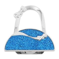 Amico Glittering Blue Semicircle Shape Folding Handbag Hook Purse Hanger Holder by Amico. $6.93. Folded Size : 6.3 x 5.1 x 0.9cm/2.5 x 2 x 0.35inches(L*W*T);Size : Small;Height : 9.7cm/3.8inches. Style : Foldable;Suitable for : Lady;Pattern : Pure. Brand : SourcingMap;Size Type : Regular. Net Weight : 57g;Package Content : 1 x Handbag Hook. Color : Black,Silver Tone,Blue;Material : Plastic,Metal, Rubber. Glittering blue semicircle design, plastic rhinestone inlaid bowknot d...