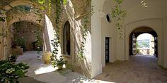 Sede I.E.R. La Sede, The Cloisters, Exotic Plants, 16th Century, Fresco, Building, Fresh, Buildings, Construction