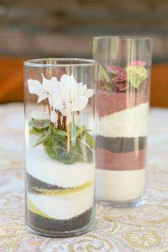 Make a colorful sand art terrarium with blogger Stephanie Rose, author of Garden Made.