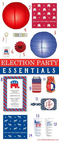 Election party essentials from Swoozies. Everything that's available in red is also available in blue-- and vice versa!