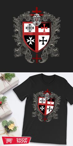 You can click the link to get yours. Templar Knights Cross Emblem Coat of Arms. Knight Templar tshirt for Crusader and Knight Templar Lovers. We brings you the best Tshirts with satisfaction. Knight Armor, Chivalry, Knights Templar, Coat Of Arms, Inspirational Gifts, Special Gifts, Defenders, Link, Christianity