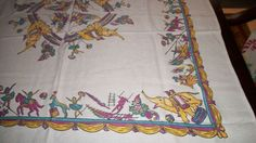 Vintage Childs Tablecloth CIRCUS Theme Cutie by gramasattic, $49.00