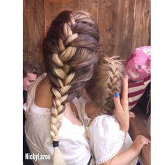 Matching braids #Balayage