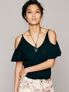 Free People We The Free Flutter Top, $48.00